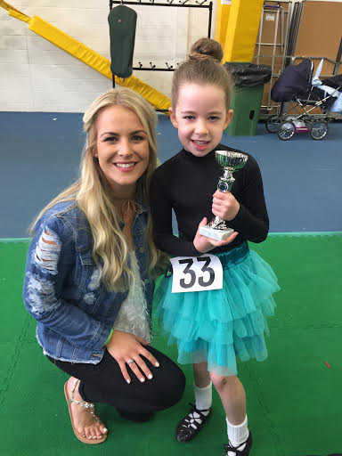 Photo of Daniella with one of the Peacock Academy dancers