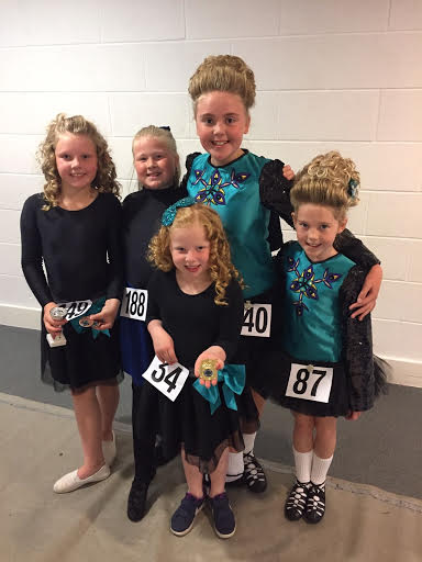 A photo of several of the Peacock Dance Academy's successful competitors